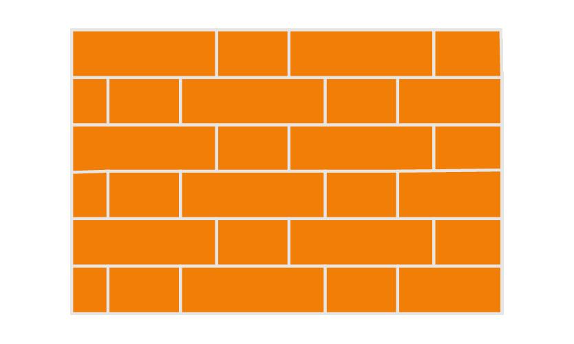 solid wall brick pattern